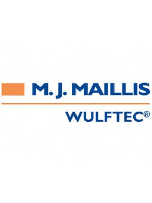 Wulftec - (Big) M.J. Maillis Sticker White/Orange (Horizontal) - # 0ELAB00271 *Contact PEP for pricing and lead-time as this is not a standard part.*